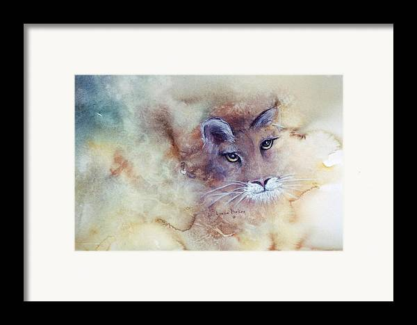 Cougar Face Framed Print featuring the painting Face With In by Lynne Parker