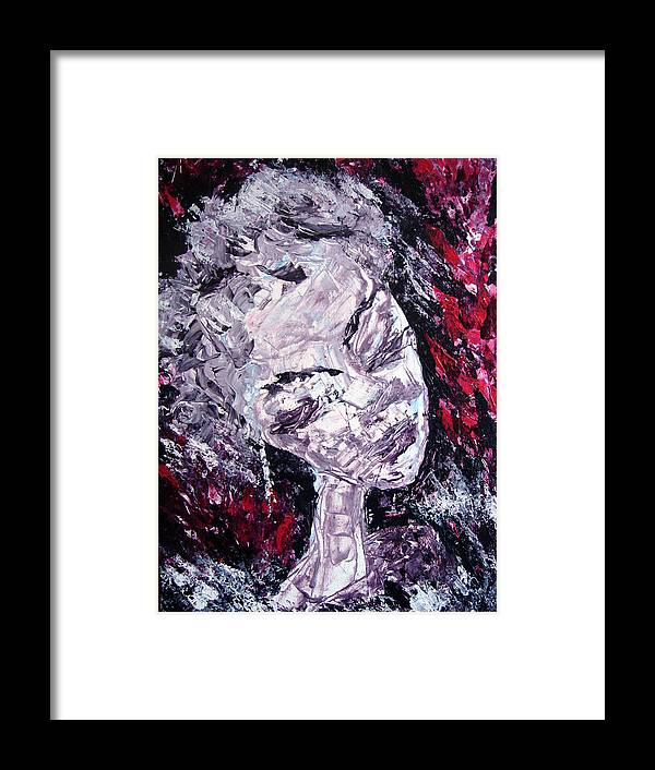 Portrait Woman Female Framed Print featuring the painting Faces 4 by Jenni Walford