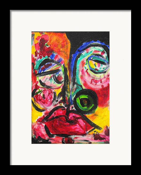 Face Framed Print featuring the painting Faces II by Joyce Goldin