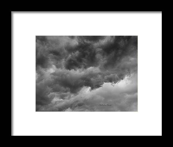 Clouds Framed Print featuring the photograph Faces In The Mist Of Chaos by ChelleAnne Paradis