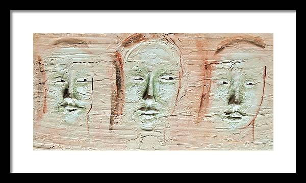Portraits Framed Print featuring the painting Faces by Kime Einhorn