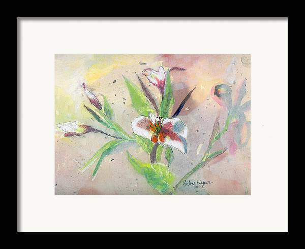 Flower Framed Print featuring the painting Faded Lilies by Arline Wagner
