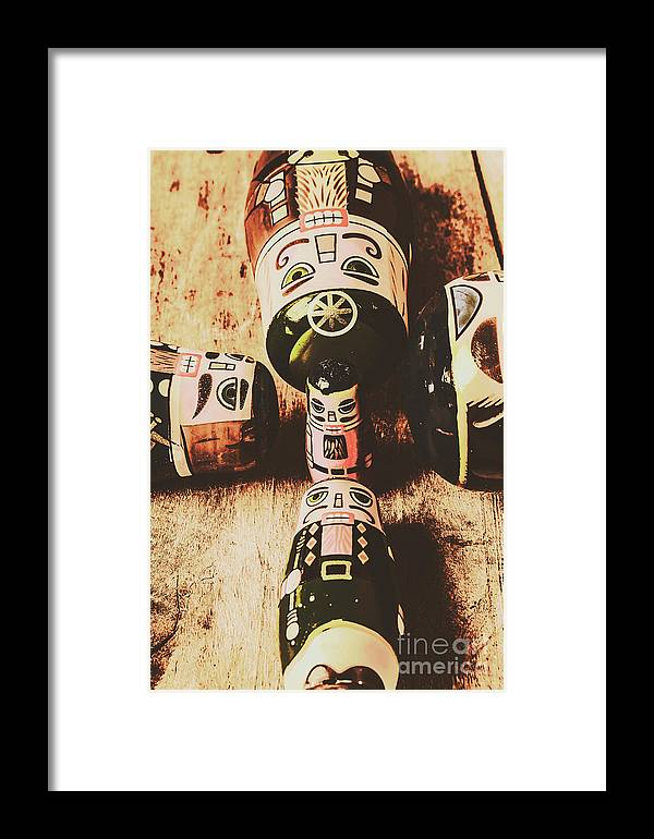 Tzar Framed Print featuring the photograph Faded Old Toys From A Vintage Past by Jorgo Photography - Wall Art Gallery