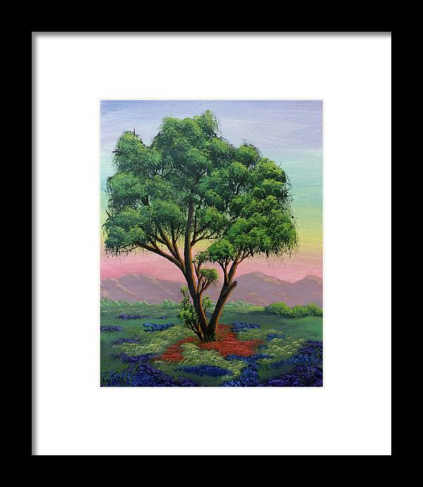 Tree Framed Print featuring the painting Fading Day by Dawn Blair