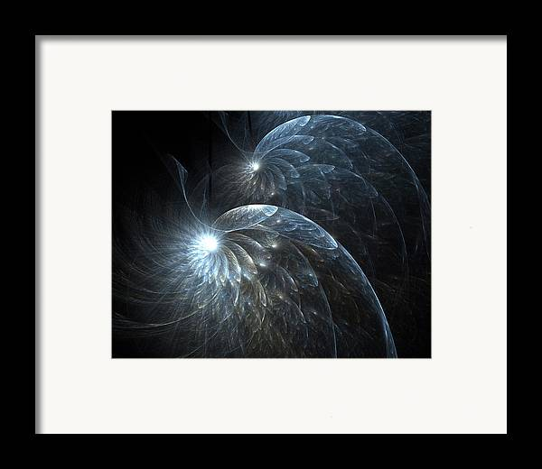 Fractal Framed Print featuring the digital art Faeries In Flight by Rachel Powell