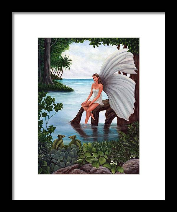 Fairies Framed Print featuring the painting Fairies Glade by Anne Kushnick