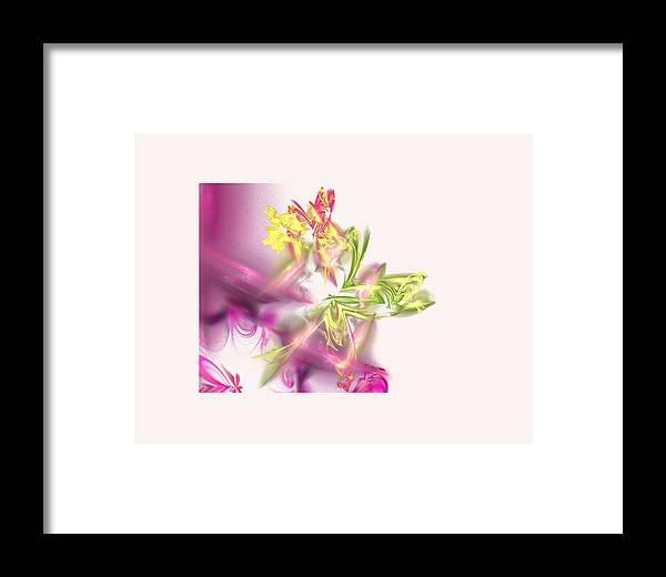 Fairy Framed Print featuring the digital art Fairies by Ilia