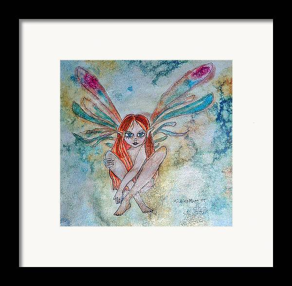 Fairy Framed Print featuring the painting Fairy Dust by Mickie Boothroyd