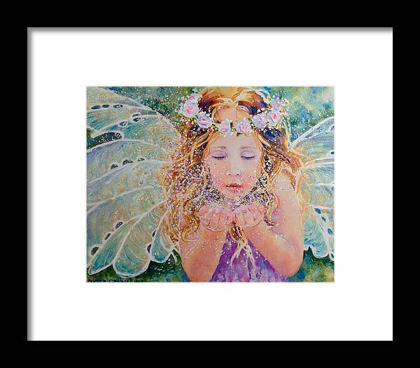Framed Print featuring the painting Fairy Dust by Nicole Gelinas