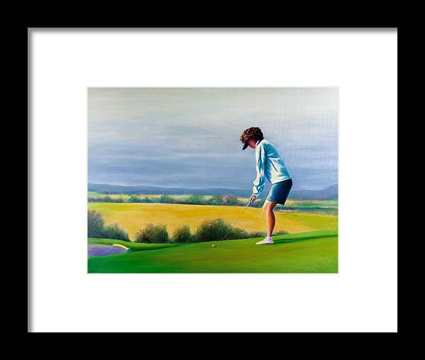 Golfer Framed Print featuring the painting Fairy Golf Mother by Shannon Grissom