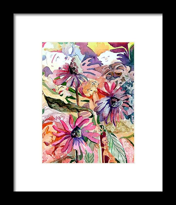 Daisy Framed Print featuring the painting Fairy Land by Mindy Newman