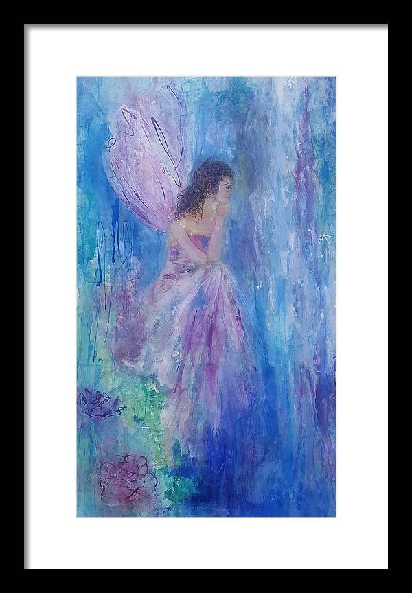 Fairy Framed Print featuring the painting Fairy Tale by Mar Hammel