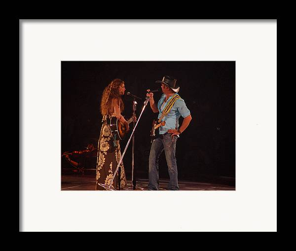 Concert Framed Print featuring the photograph Faith And Tim Sing by Bobby Miranda