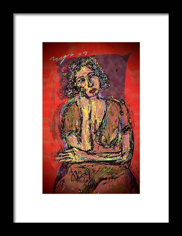 Thought Framed Print featuring the painting Faith by Noredin Morgan