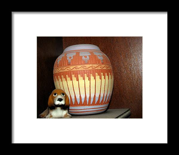 Dog Framed Print featuring the photograph Faithful by Belinda Consten