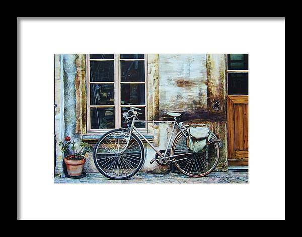 Antique Framed Print featuring the painting Faithful Friend by Karen Salee