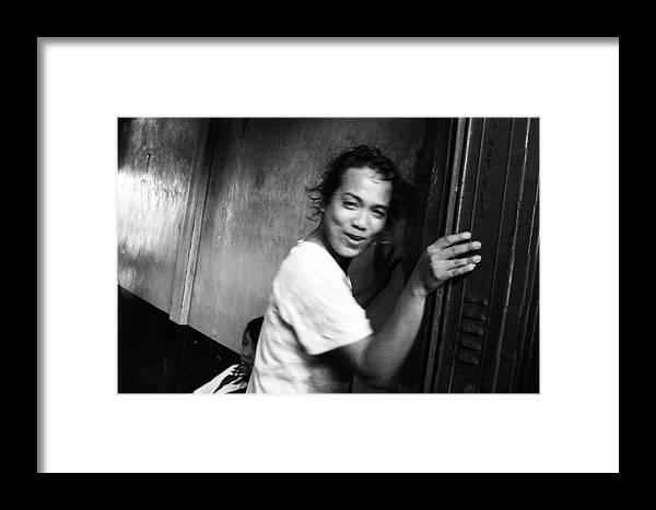Photographer Framed Print featuring the photograph Faking Coyness by Jez C Self