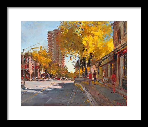 Fall In Canada Framed Print featuring the painting Fall 2010 Canada by Ylli Haruni