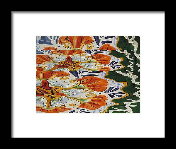 Abstract Framed Print featuring the digital art Fall Approaches by Florene Welebny