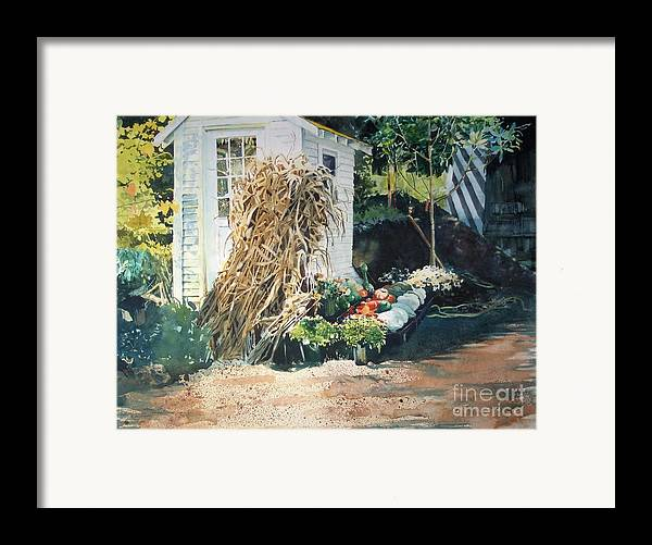 Garden Framed Print featuring the painting Fall At Ivy Corners by Elizabeth Carr