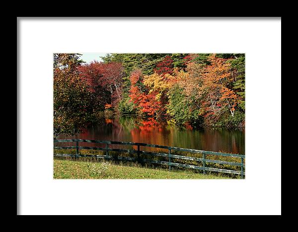 Fall Framed Print featuring the photograph Fall At The Farm by Gina Cormier