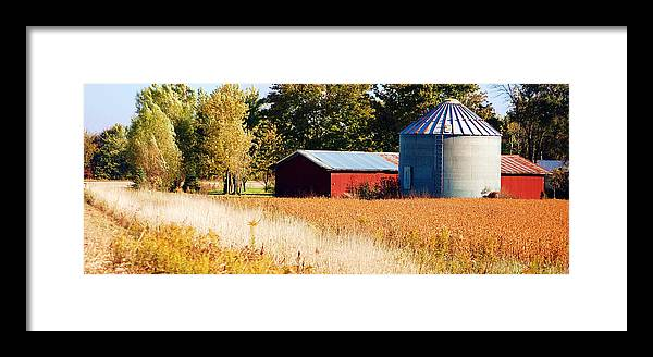 Grain Bin Framed Print featuring the photograph Fall Bin by Jame Hayes