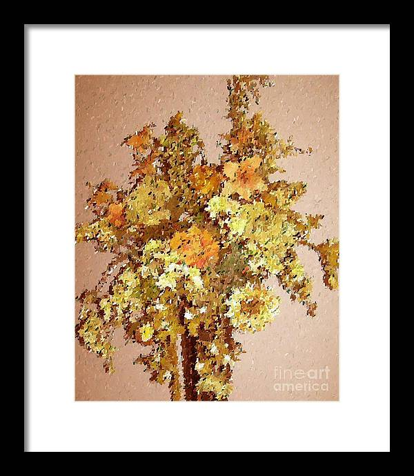 Floral Framed Print featuring the print Fall Bouquet by Don Phillips