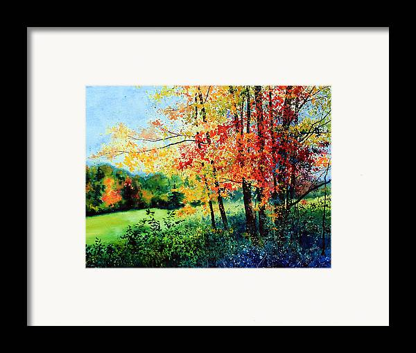Fall Landscape Art Framed Print featuring the painting Fall Color by Hanne Lore Koehler