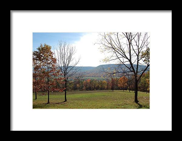 Colors Framed Print featuring the photograph Fall Colors In Corner Of A Field by Richard Botts