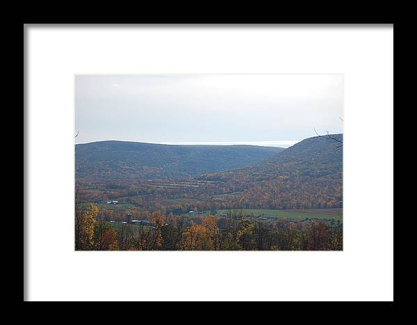 Mountain Framed Print featuring the photograph Fall Colors In Nippenose Valley by Richard Botts