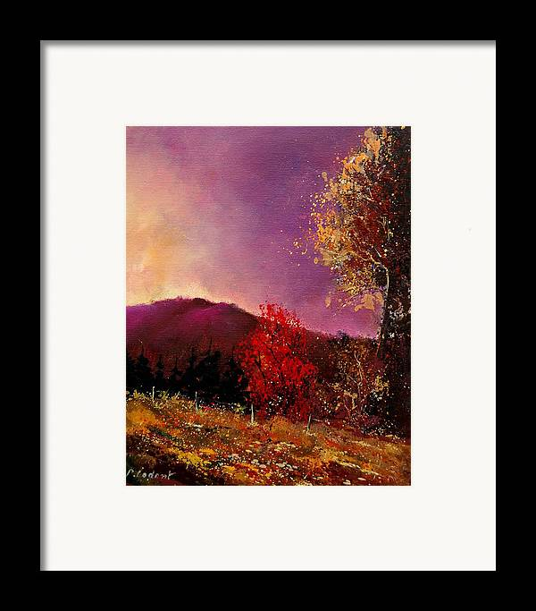 River Framed Print featuring the painting Fall Colors by Pol Ledent