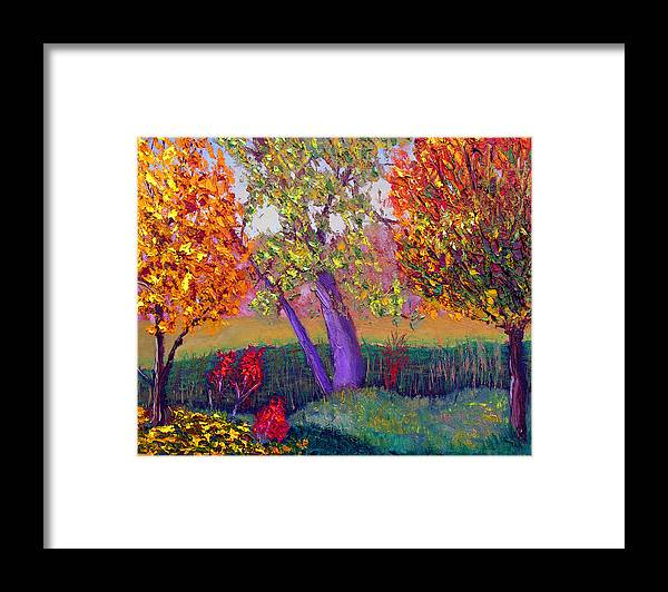 Fall Framed Print featuring the painting Fall Colors by Stan Hamilton