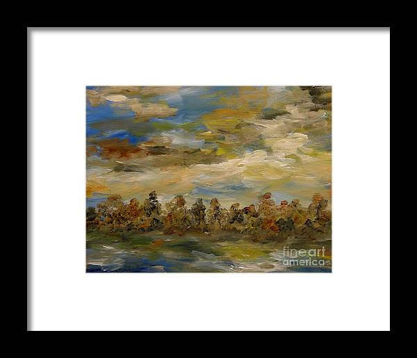 Original Acrylic Painting Framed Print featuring the painting Fall Colors by Windi Rosson