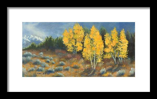 Landscape Framed Print featuring the painting Fall Delight by Jerry McElroy