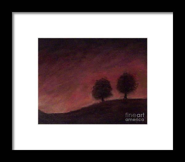 Tree Framed Print featuring the painting Fall by Francis Bourque