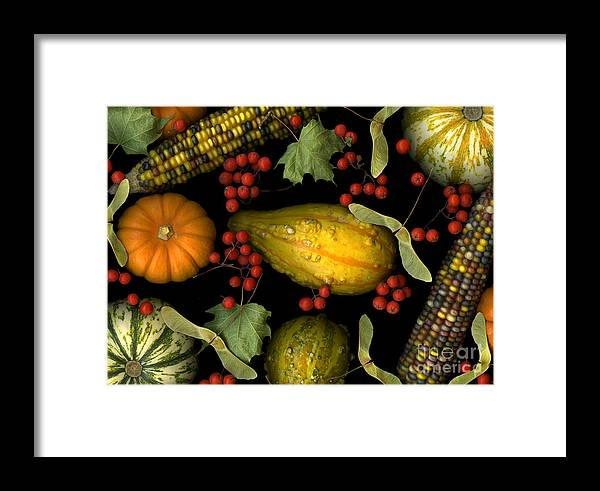 Slanec Framed Print featuring the photograph Fall Harvest by Christian Slanec
