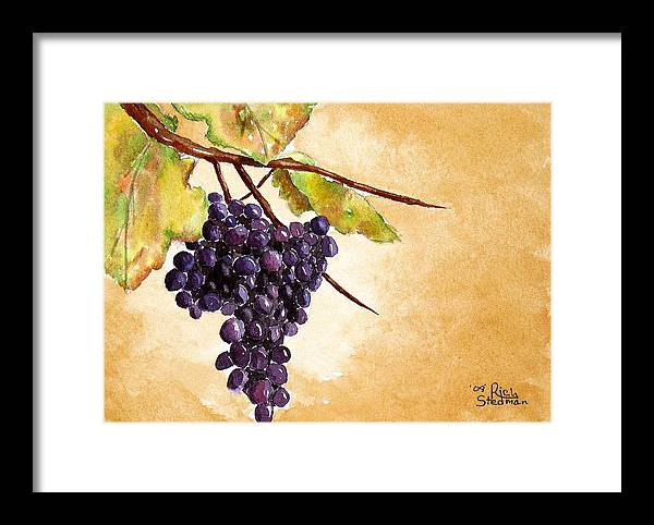 Food And Beverage Framed Print featuring the painting Fall Harvest by Rich Stedman