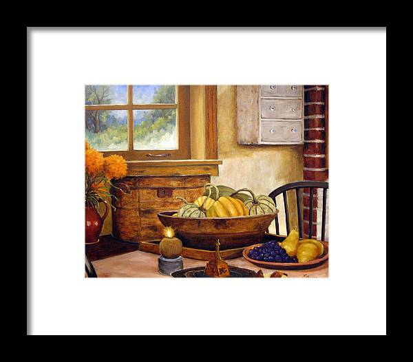 Fall Framed Print featuring the painting Fall Harvest by Richard T Pranke