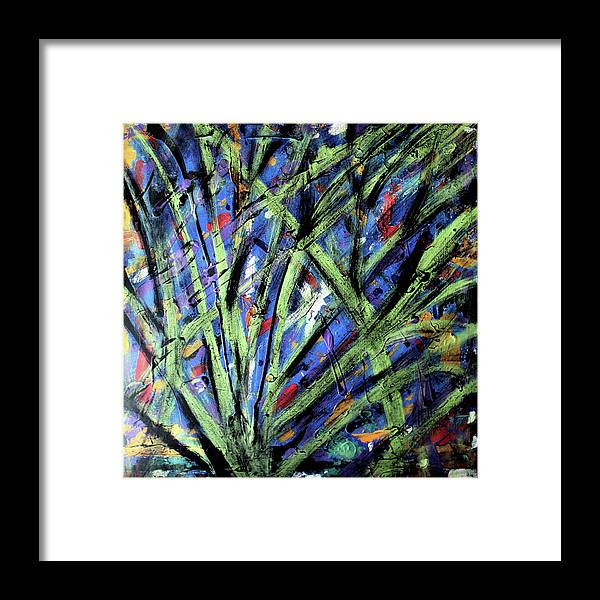 Abstract Framed Print featuring the painting Fall Haze by Pam Roth O'Mara