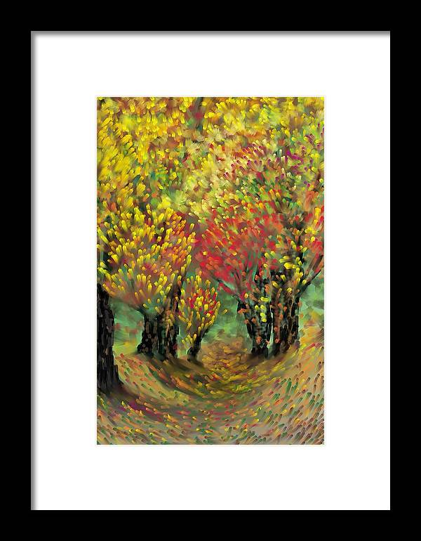 Landscape Framed Print featuring the painting Fall Impression by Harry Dusenberg
