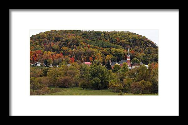 Fall Framed Print featuring the photograph Fall In A Small Town by Betsy Stahl