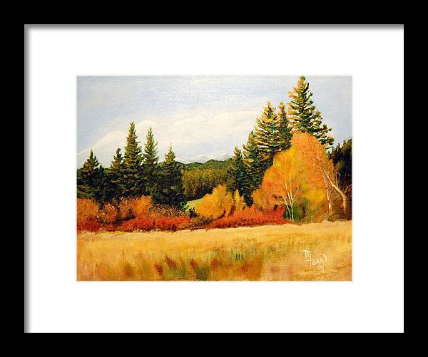 Landscape Framed Print featuring the painting Fall In Chattaroy by Mark Farr