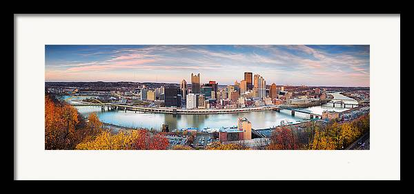 Steelers Framed Print featuring the photograph Fall In Pittsburgh by Emmanuel Panagiotakis