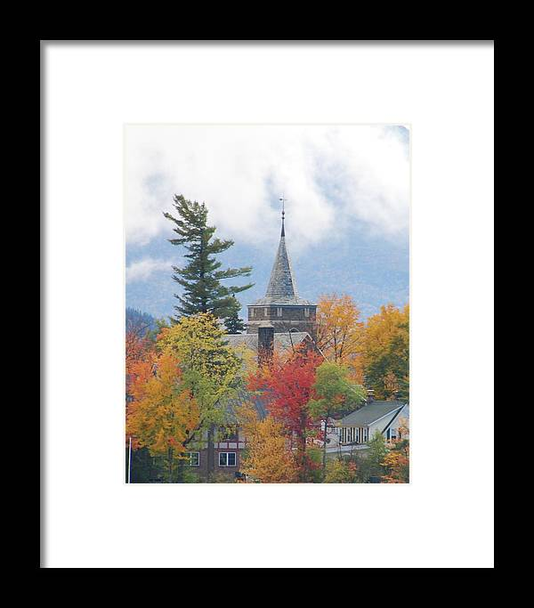 Landscape Framed Print featuring the photograph Fall In Upstate New York by Becky Hollis