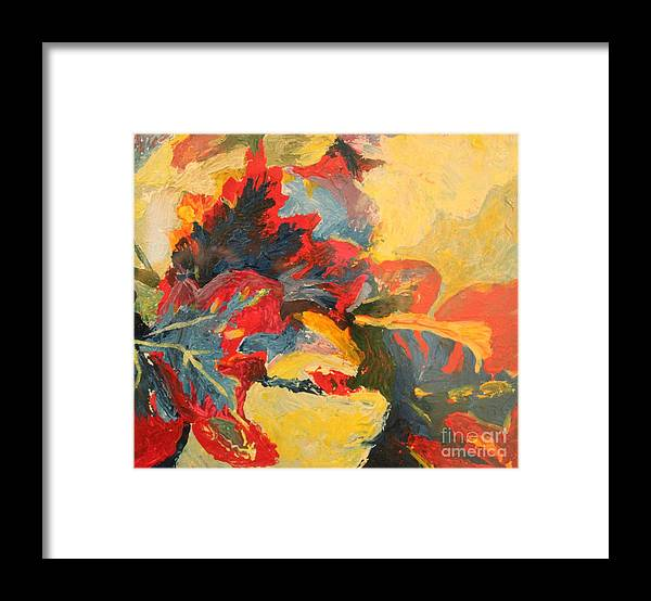 Leaves Framed Print featuring the painting Fall Leaves by Terri Thompson