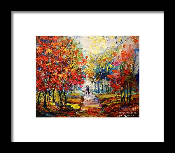Artwork Framed Print featuring the painting Fall by Maya Green