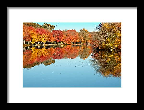 Landscape Framed Print featuring the photograph Fall Morning In East Lyme 1 by Gerald Mitchell