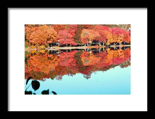 Landscape Framed Print featuring the photograph Fall Morning In East Lyme 2 by Gerald Mitchell