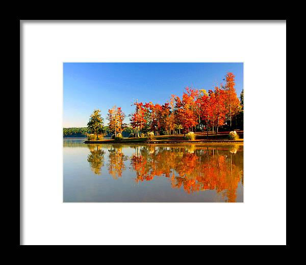 Lake Framed Print featuring the photograph Fall On Lake by Ralph Perdomo