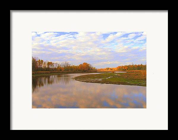 Photography Framed Print featuring the photograph Fall Picture Of The Stream by Katina Cote